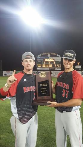 Lucas Holub winning the Juco National Championship with Northwest Florida State College.